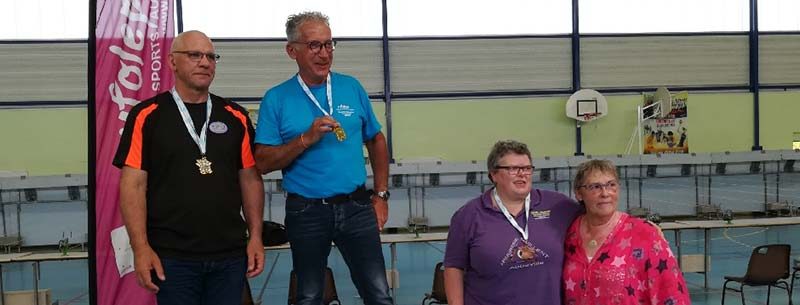 Guy ALBAN, champion national 2018 UFOLEP à la carabine 10m, en individuel